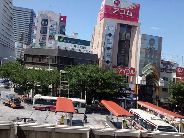 中野駅北口バスロータリー風景〜中野駅ホームから【6・28あるあるの東京・中央線・中野ぶらり】