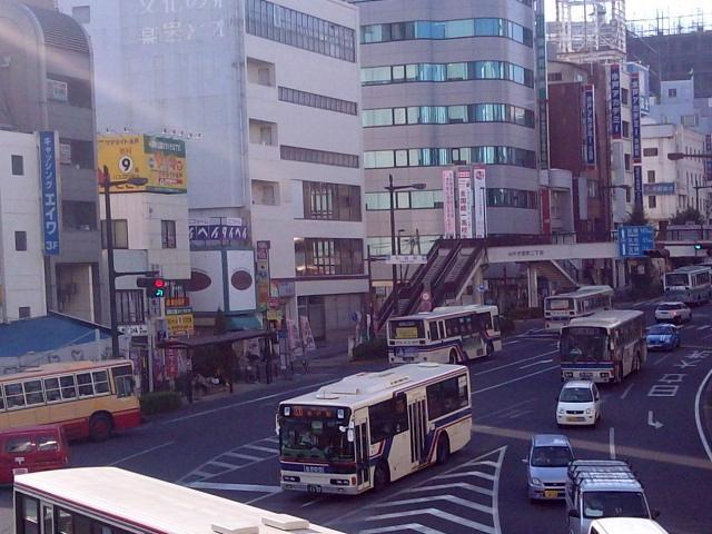 バスがいっぱい〜水戸駅前【9・8あるあるの茨城・水戸ぶらり】