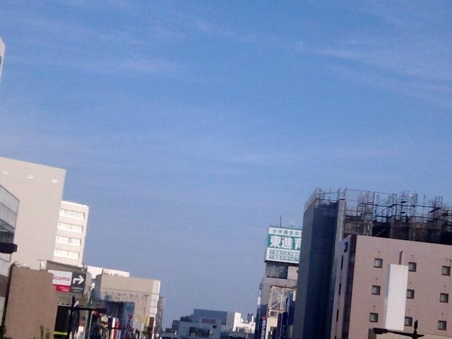 水戸駅前風景〜これも歩道橋から【9・8あるあるの茨城・水戸ぶらり】