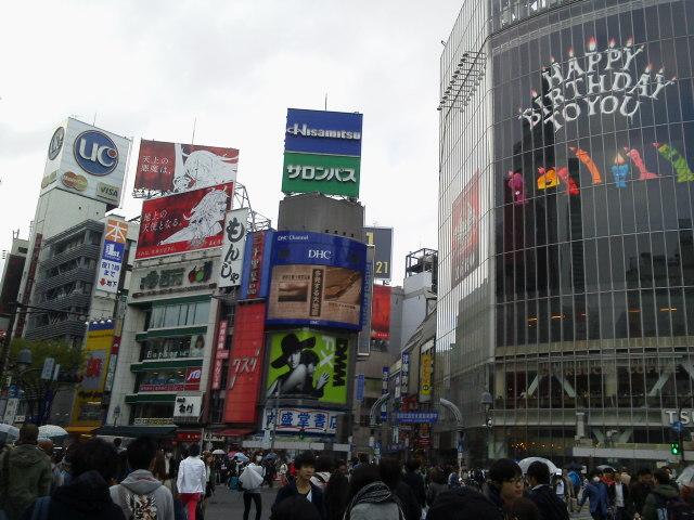 渋谷スクランブル交差点(<br />  4月7日)<br />  【東京渋谷区】あるある東京ぶらり